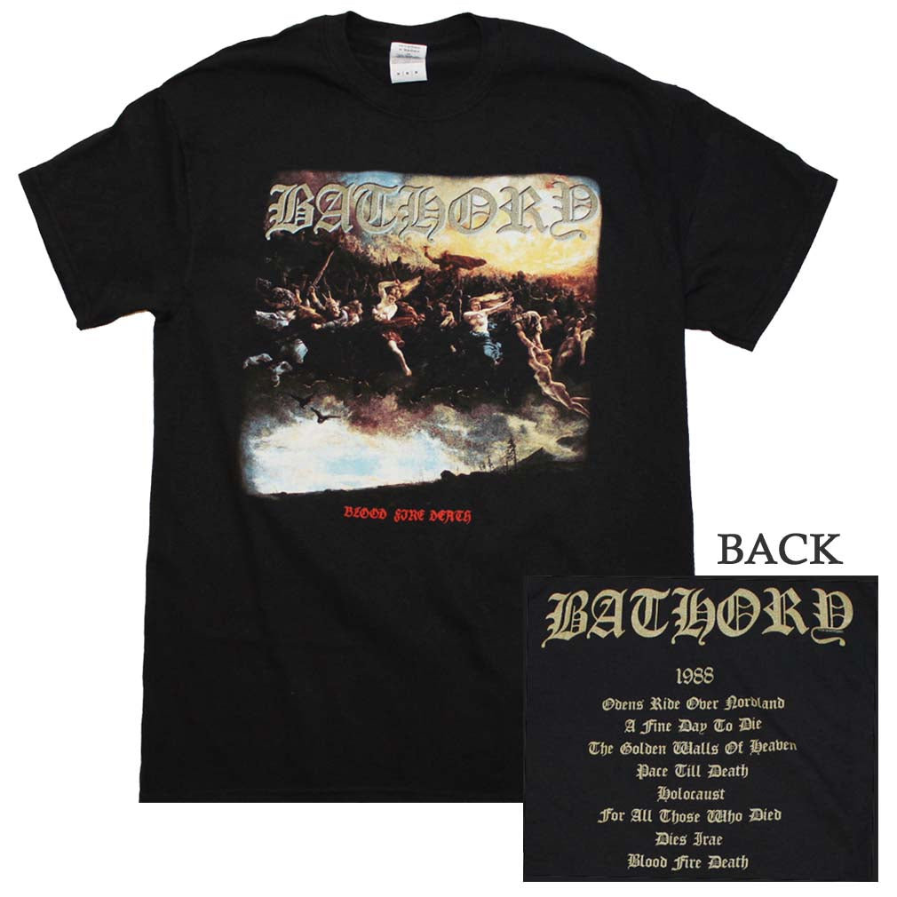Bathory Blood Fire Death T-Shirt - T-Shirt Tickles
