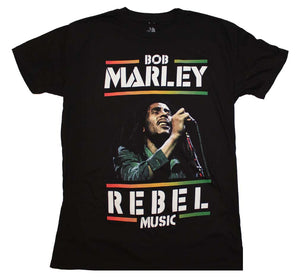 Bob Marley Rebel Music T-Shirt - T-Shirt Tickles