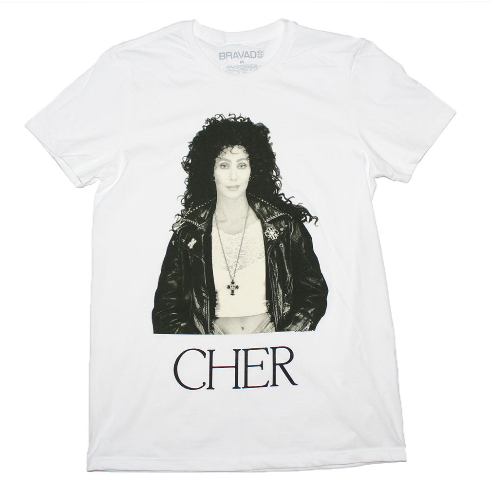 Cher Sepia Leather Jacket T-Shirt - T-Shirt Tickles