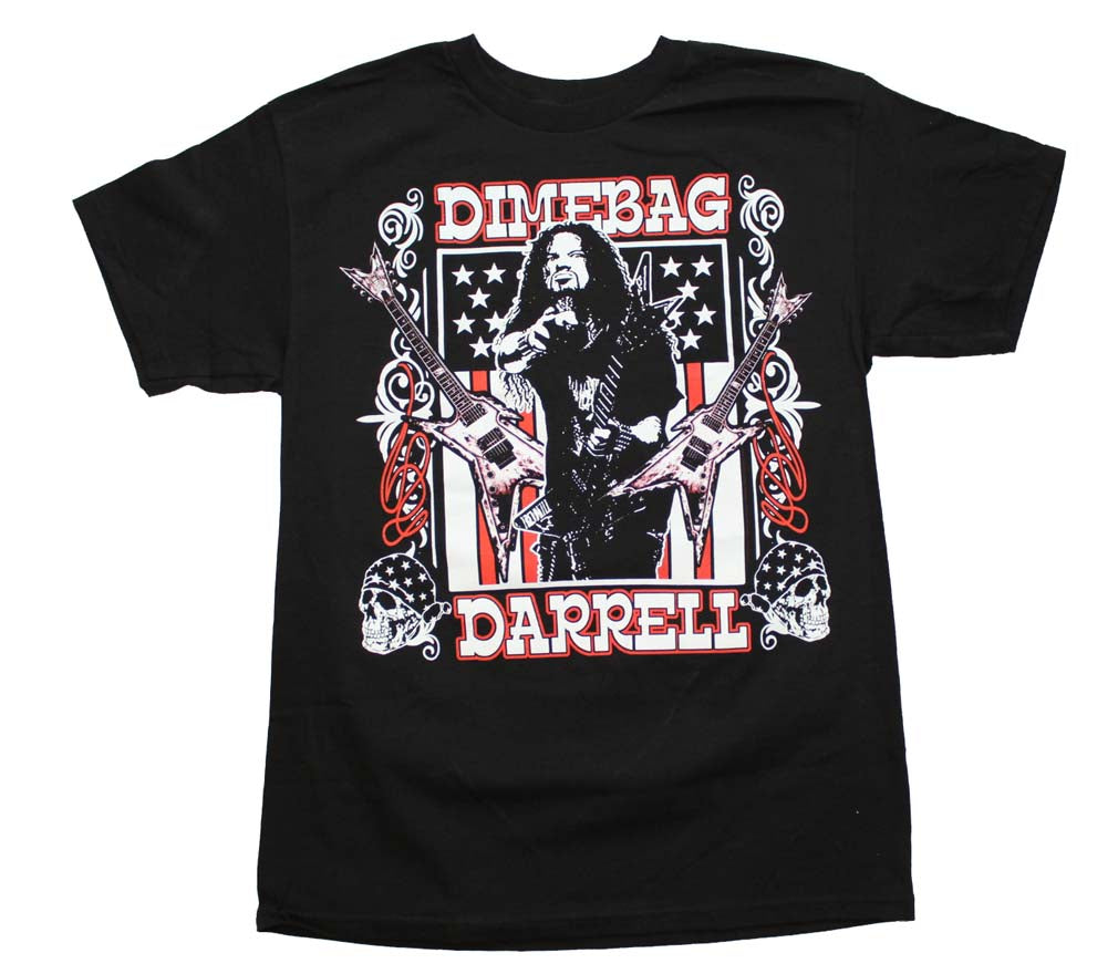 Dimebag Darrell Guitars Flag T-Shirt - T-Shirt Tickles