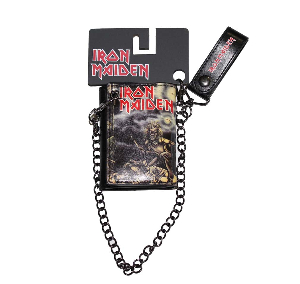 Iron Maiden Sanctuary Trifold Wallet & Chain