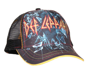 Def Leppard Broken Glass Mesh Back Trucker Hat - T-Shirt Tickles