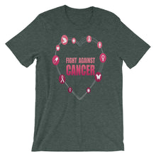 Fight Against Breast Cancer Short-Sleeve Unisex T-Shirt - T-Shirt Tickles