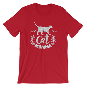 Cat Momma Cat Lover Short-Sleeve Unisex T-Shirt - T-Shirt Tickles