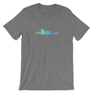 Cat Dad Cat Lover Short-Sleeve Unisex T-Shirt - T-Shirt Tickles