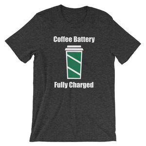 Coffee Battery Fully Charged Short-Sleeve Unisex T-Shirt - T-Shirt Tickles