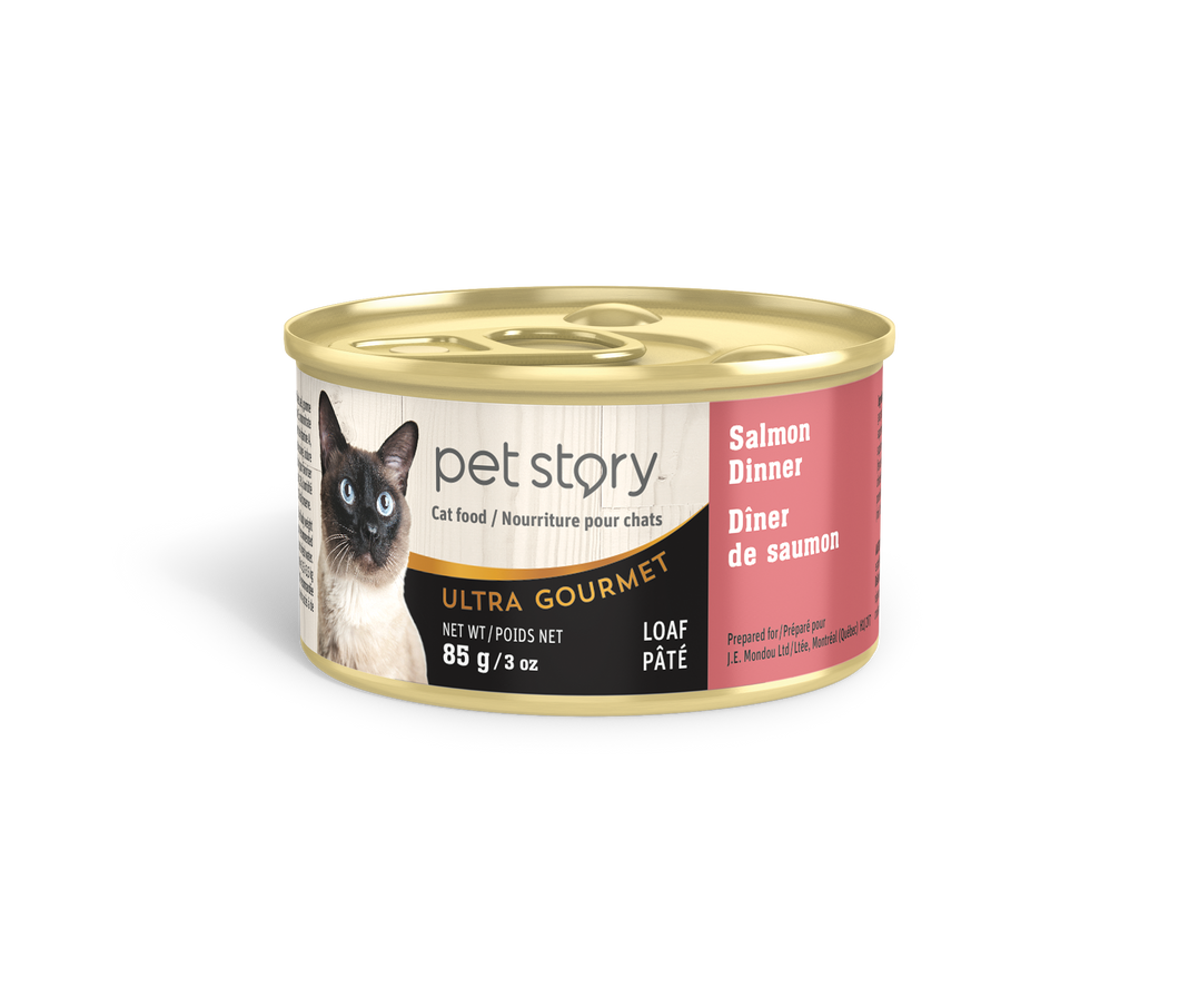 Salmon wet food for adult cats - 85g