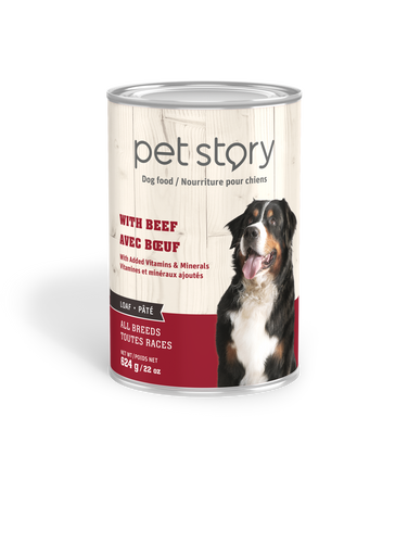 Beef wet food for adult dogs - 624g