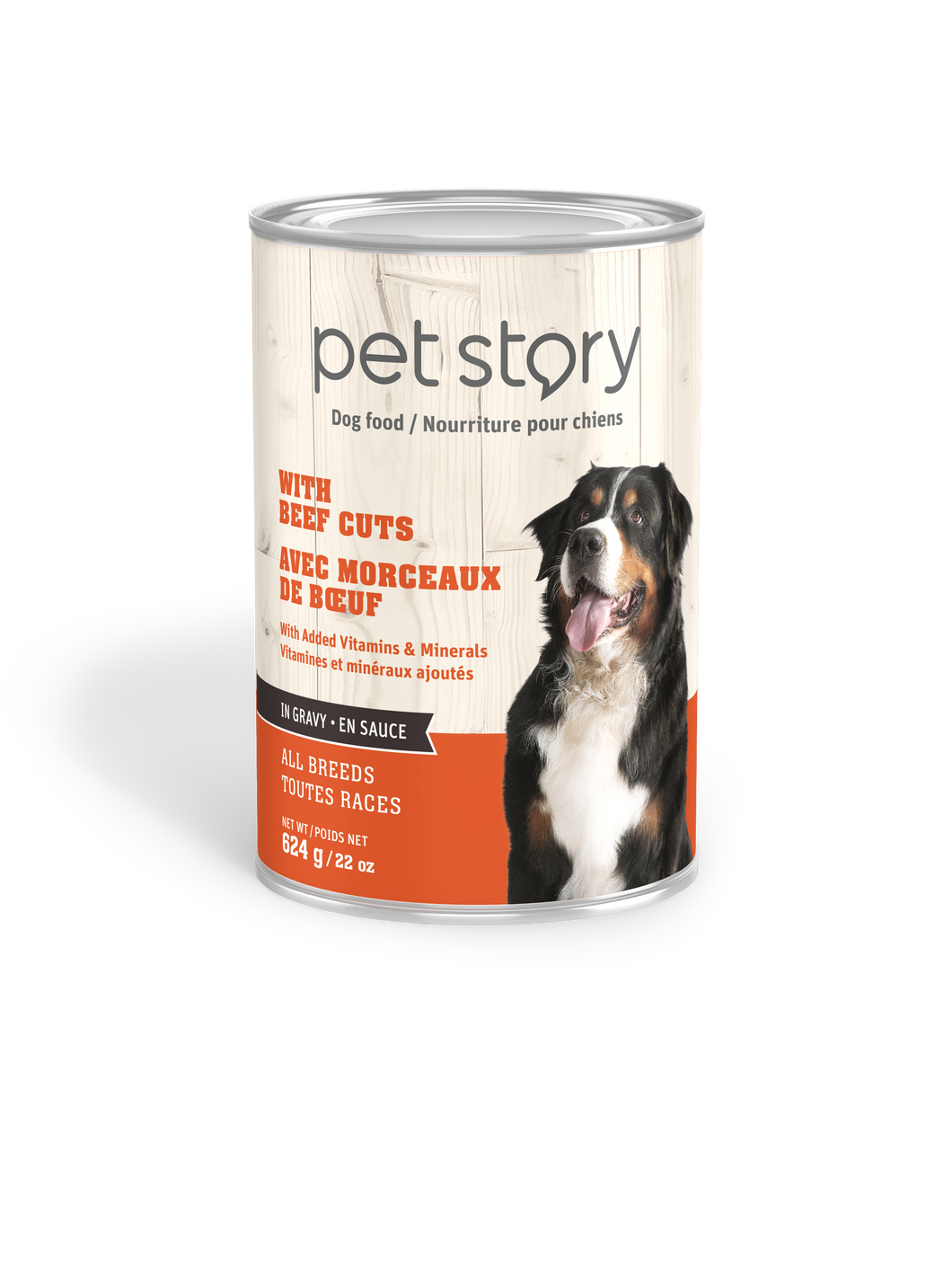 Wet food with beef cuts for adult dogs - 624g