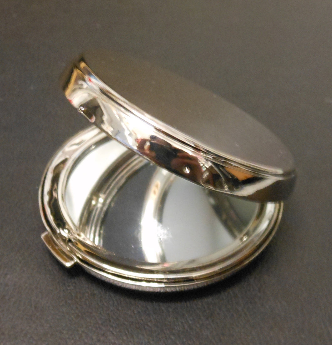 ENGRAVED ROUND PURSE MIRROR