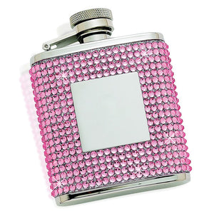 FLASK WITH PINK CRYSTALS
