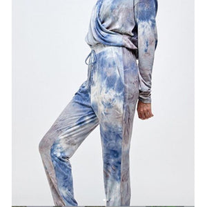 TIE DYE LOUNGE SET BLUE