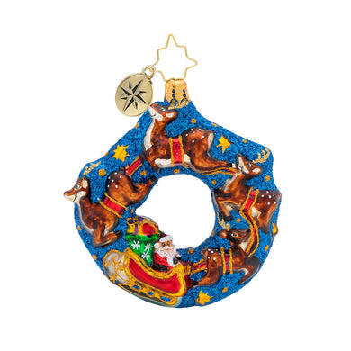 SANTA`S MIDNIGHT RIDE LITTLE GEM RADKO ORNAMENT
