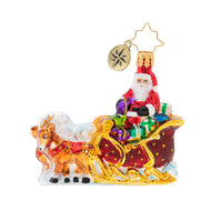 STELLAR RIDE SANTA LITTLE GEM RADKO ORNAMENT