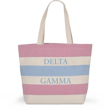 DELTA GAMMA STRIPED TOTE BAG