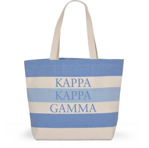 KAPPA KAPPA GAMMA STRIPED TOTE BAG