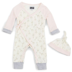 PINK GIRAFFE TAKE ME HOME BABY SET 6 MONTHS