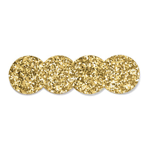 KATE SPADE HAPPY HOUR GOLD GLITTER COASTER SET