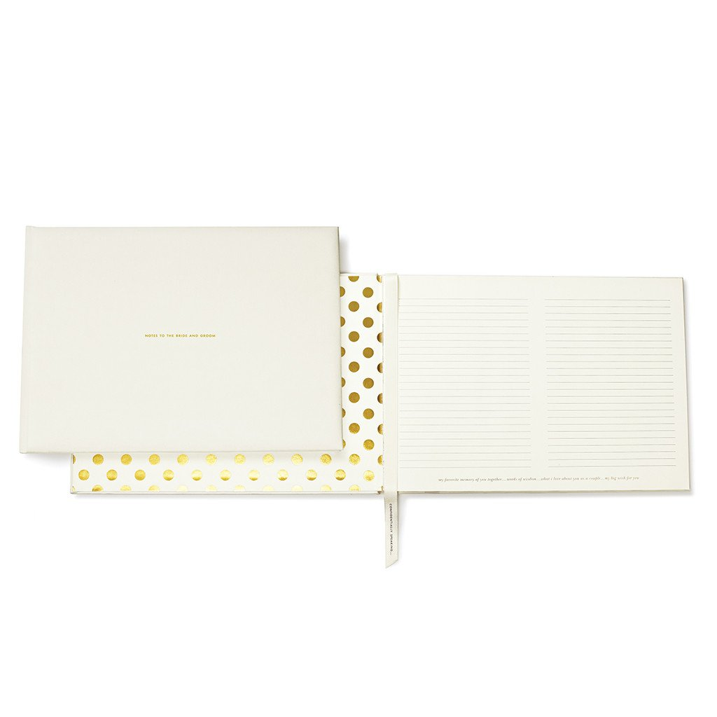 KATE SPADE NOTES TO THE BRIDE AND GROOM GUEST BOOK