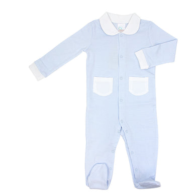 BLUE STRIPE FOOTIE 3-6 MONTH