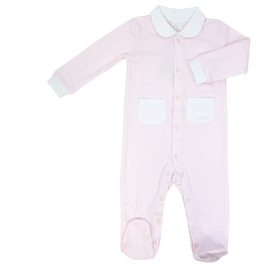 PINK STRIPE FOOTIE 0-3 MONTH
