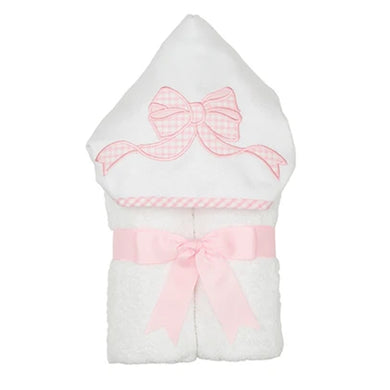 PINK BOW APPLIQUE EVERYKID TOWEL