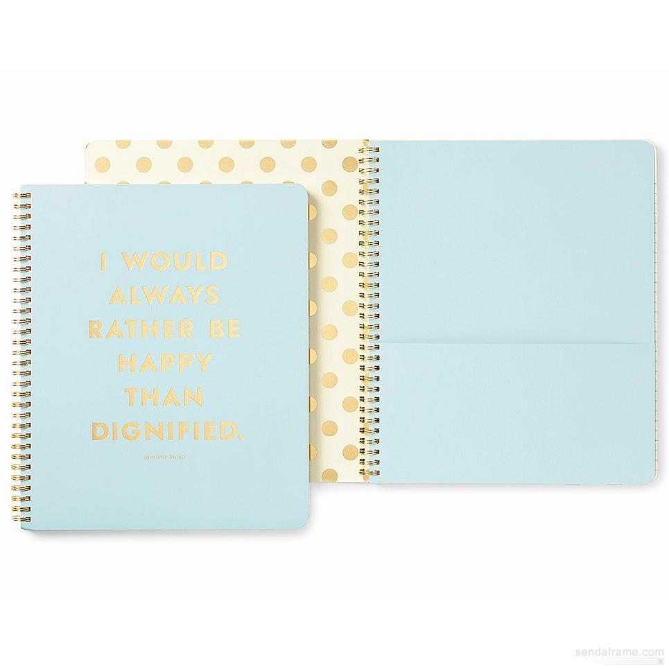 KATE SPADE BE HAPPY SPIRAL NOTEBOOK