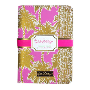 PASSPORT COVER METALLIC PALMS