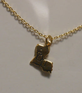 ALPHA OMICRON PI LOUISIANA NECKLACE