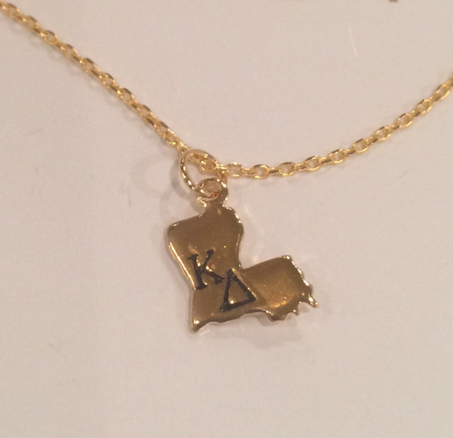 KAPPA DELTA LOUISIANA NECKLACE