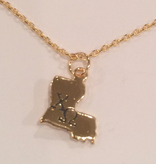 CHI OMEGA LOUISIANA NECKLACE