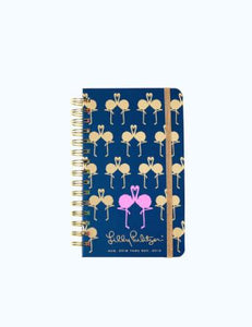 17 MONTH MEDIUM AGENDA NAVY FLAMINGO