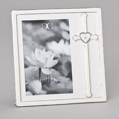 CROSS WITH HEART FRAME