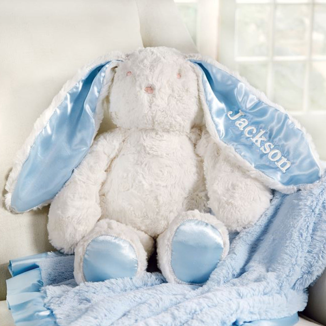 PERSONALIZED PLUSH BUNNY BLUE