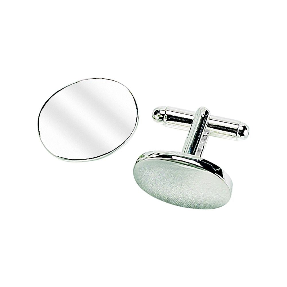 ENGRAVED OVAL CUFF LINKS