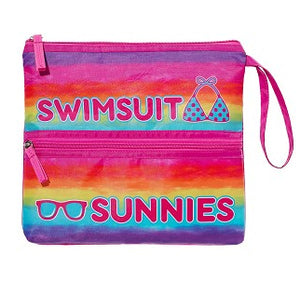 BRIGHT RAINBOW SUIT AND SUNNIES BAG