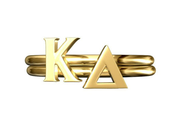 KAPPA DELTA STACK RING