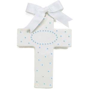 PERSONALIZED CERAMIC CROSS BLUE