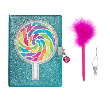 LOLLIPOP GLITTER LOCKING JOURNAL