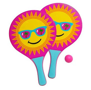 SUMMER VIBES PADDLE BALL SET