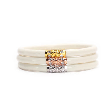 IVORY THREE KINGS ALL WEATHER BANGLE SET OF 3