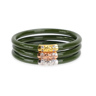 JADE THREE KINGS ALL WEATHER BANGLE SET OF 3