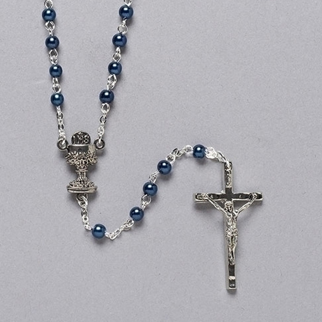 BLUE COMMUNION ROSARY