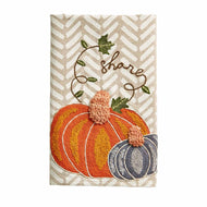 SHARE EMBROIDERED PUMPKIN TOWEL