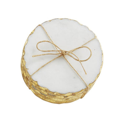 GOLD MARBLE FOIL COASTER SET