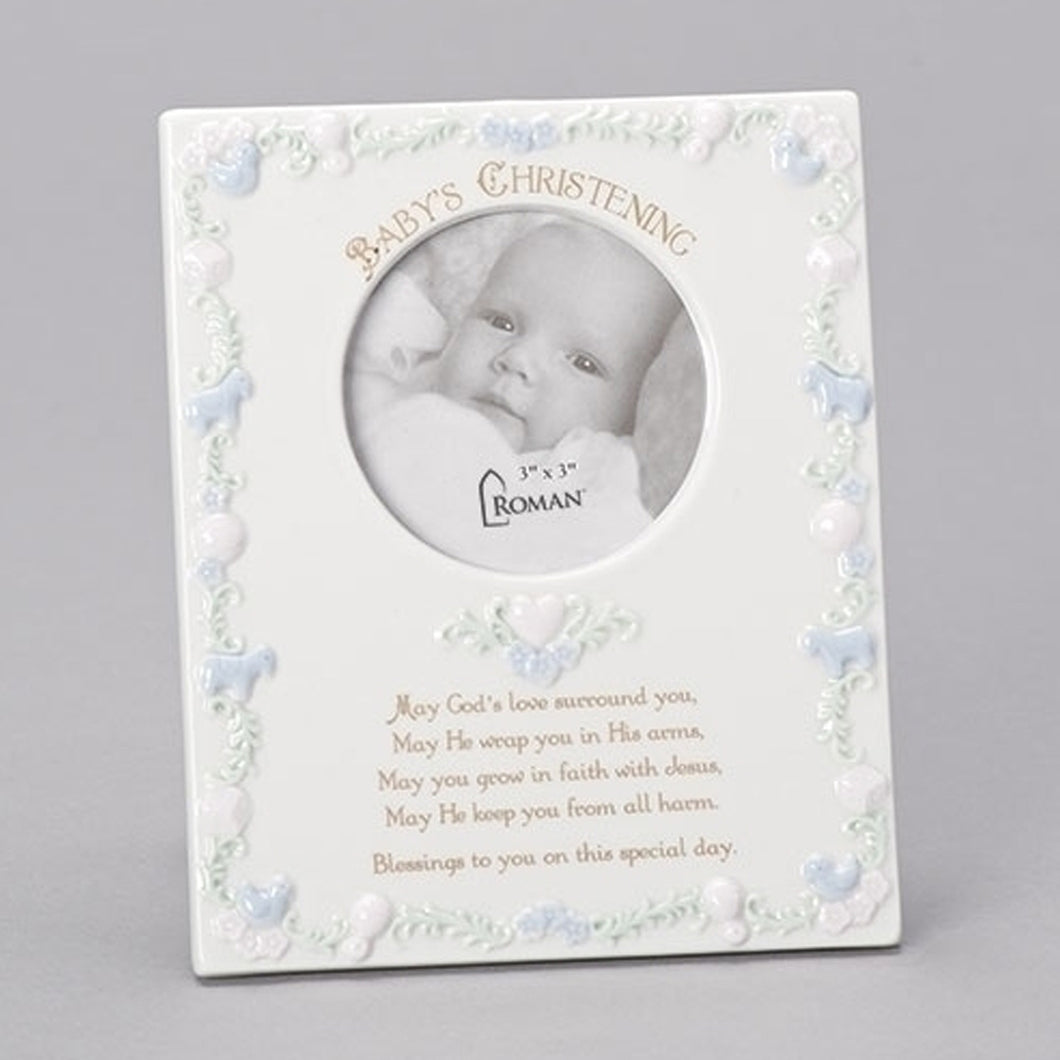 CHRISTENING CERAMIC FRAME