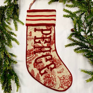 PEACE TOILE CHRISTMAS STOCKING