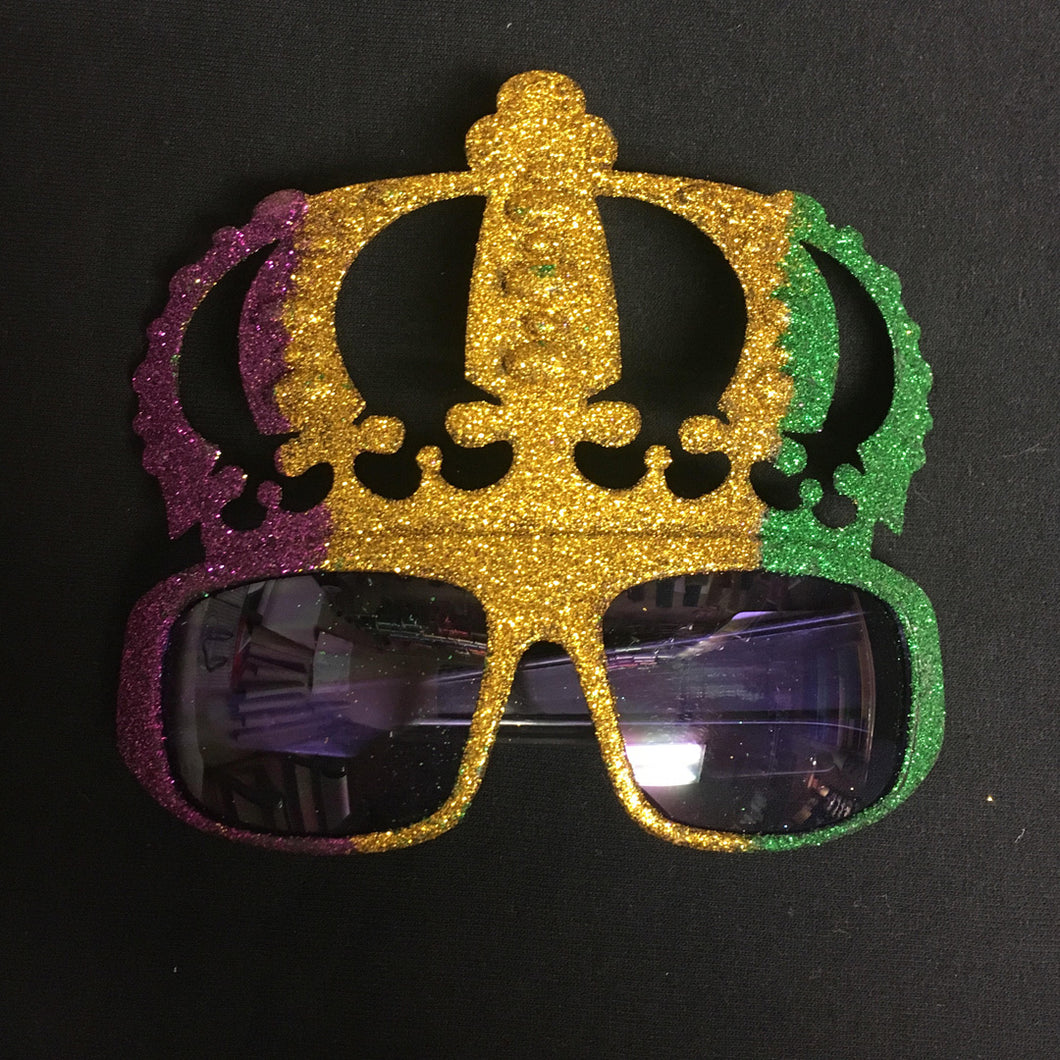 MARDI GRAS CROWN SUNGLASSES