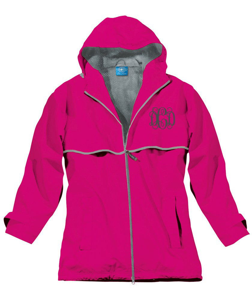 NEW ENGLANDER RAINJACKET HOT PINK