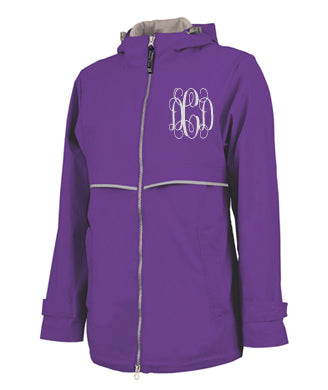 NEW ENGLANDER RAIN JACKET PURPLE